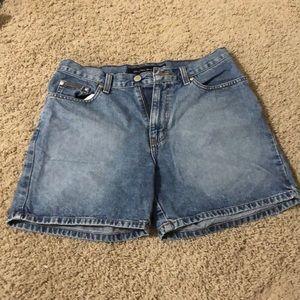 blue calvin klein jean shorts